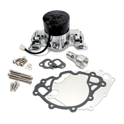 Small Block Ford Chrome High Volume Performance Electric Water Pump SBF 289 302