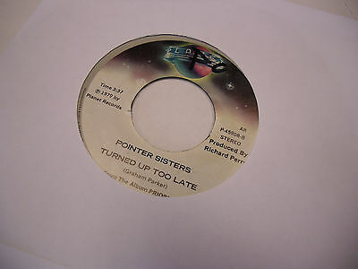 Pointer Sisters Who Do You Love/Turned Up vinyl 45 RPM 1979 Planet Records VG+
