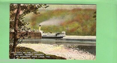 #c. Shipping   Postcard - Ss Lady Of The Lake, Kenmore Pier, Loch Tay