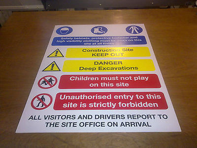 Building Site Safety Sign No1 - 2 sizes best value same day dispatch 4mm or 6mm