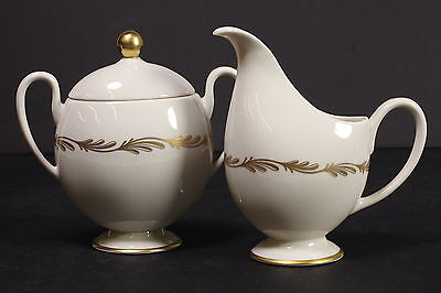 Franciscan Fine China Arcadia Gold Creamer Small Pitcher & Sugar Bowl W/ Lid