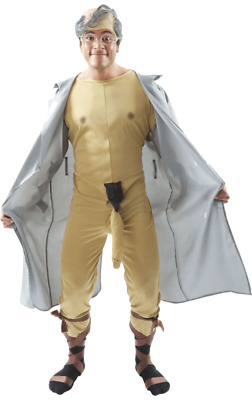 Mens Dirty Old Man Flasher Rude & Naughty Novelty Fancy Dress Costume
