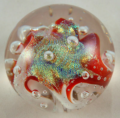 Ron Schuster's Red Pastel Dichroic Paperweight!!