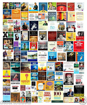 Wholesale Lot 100 New Audiobooks on CD Fiction - Non-Fiction Abridged Unabridged