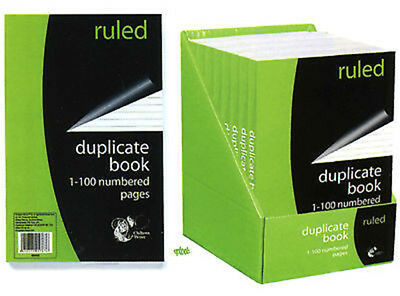 Ruled Duplicate Invoice Book 1-100 Numbered Pages Includes Carbon Sheet - 1 or 2