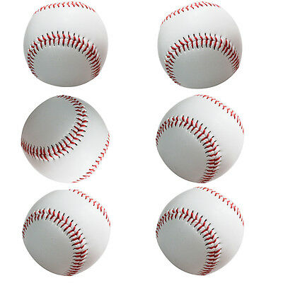 "9"" Official Size White Softballs Sports Ball Game Practice Training Baseball Set"