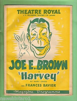 #t32.  Australian 1950  Theatre Program  Featuring Joe E. Brown