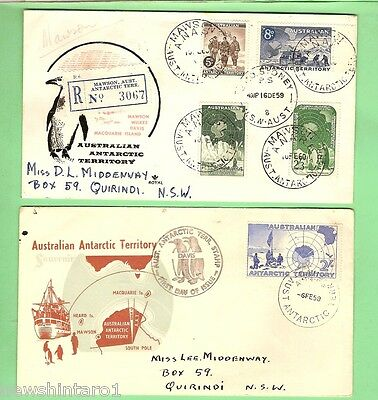 #d112. Five Stamped Envelopes On Australian Antarctic Territory