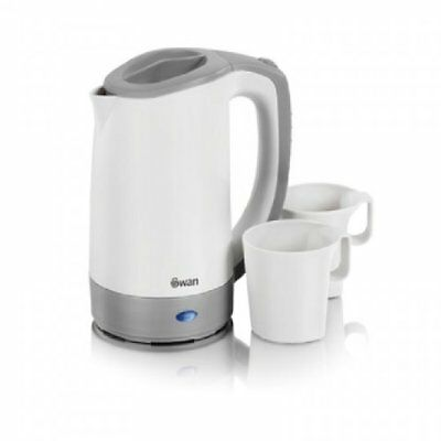 Swan SK19010N Electric Travel Kettle Jug 0.5L Dual Voltage With 2 Cups