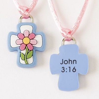 Rubber Necklace, Cross and Flower