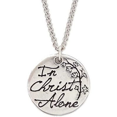 In Christ Alone---Pewter Pendant