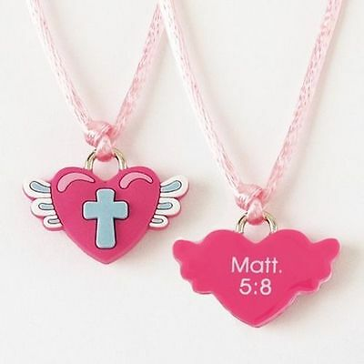 Rubber Necklace, Heart with Wings