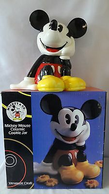 Walt Disney Treasure Craft Mickey Mouse Sitting Down Cookie Jar MIB #G414