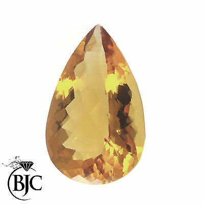 BJC® Loose Natural Yellow Citrine Pear Cut Stones Multiple Sizes 6 x 4 - 15 x 8