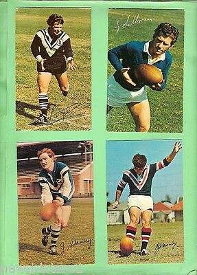 #d112. Eighteen  1971  Mobil Rugby League Cards, Newcastle Issues