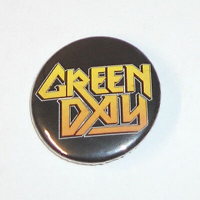 "New, GREEN DAY - Metal God Yellow Logo 1.5"" BADGE/ PIN/ BUTTON"