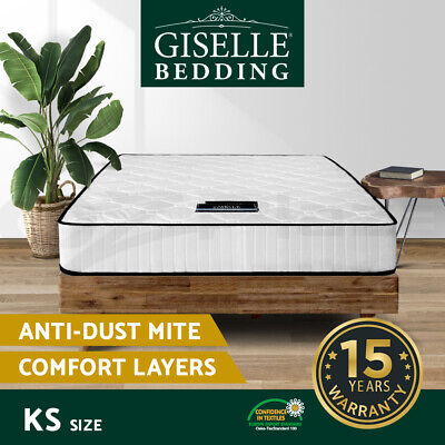 Giselle Bedding KING SINGLE Size Bed Mattress Pocket Spring Tight Top Foam 21CM