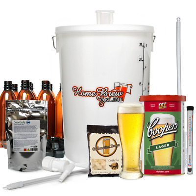 Complete Home Brew Lager Beer Ale Cider Making Starter Kit - CHOICE OF STYLES