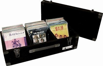 "Odyssey C45200 Carpeted Record Case Holds up to 200 7"" Inch 45 RPM Vinyl Records"