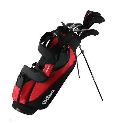 WILSON ULTRA Mens Right Handed 10 Piece Complete Package Golf Club Set w/Bag-Red