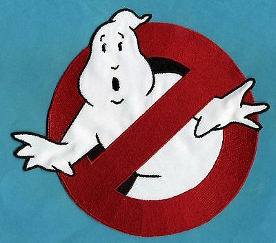 """LARGE Ghostbusters 1 style 8"""" [inch] No Ghost Embroidered Iron-On Patch"""