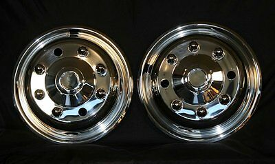 "19.5"" 8 Lug chevy 4500 5500 6500  Wheel Simulators Tow Truck front pair new"