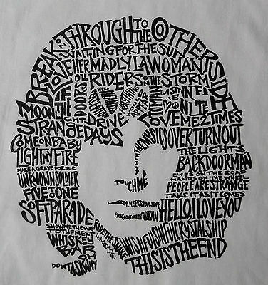 JIM MORRISON THE DOORS VINTAGE STYLE T SHIRT 1960'S RARE ROCK N ROLL S-5XLG