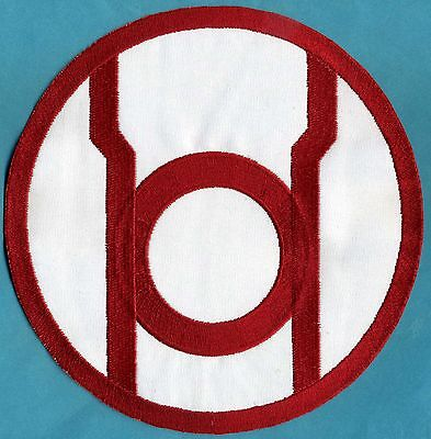 """Large 8"""" [inch] Red Lantern Corps Classic Style Embroidered Iro0n-On Patch"""
