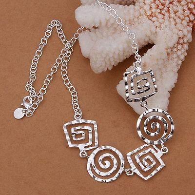 Fashion Silver 925 Beautiful round pretty Necklace jewelry women party gift