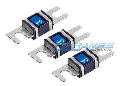 175 AMP 6 pcs PLATINUM MINI ANL WAFER FUSES WITH LED LIGHT Car Marine AFS//MIDI