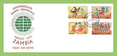Zambia 1979 Commonwealth Summit Conference, Dancers set First Day Cover