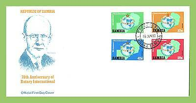 Zambia 1980 Rotary International set on First Day Cover