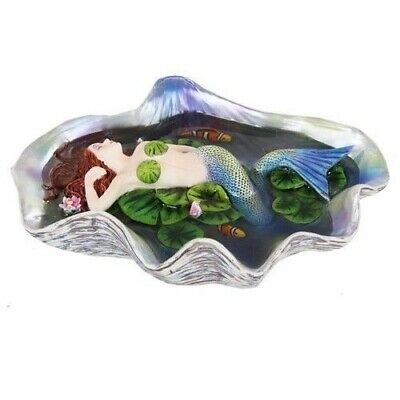 Sheila Wolk Collection Sleeping Mermaid and Fish Sculpture Beautiful Figurine