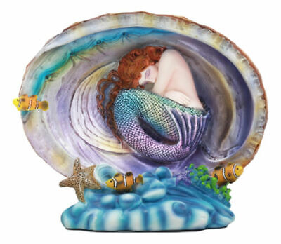 Sheila Wolk Collection Pearl Mermaid and Fish Sculpture Beautiful Figurine