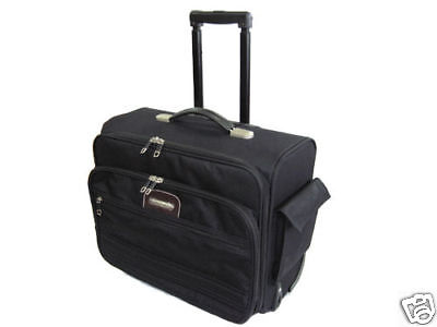 """15.4"""" Laptop Rolling Carry Case Computer Notebook Bag"""