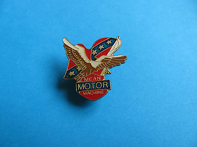 Motorcycle Lapel badge. Enamel. VGC. Mean Motor Machine