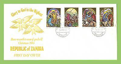 Zambia 1983 Christmas set on First Day Cover