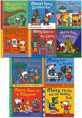 Maisy Mouse First Experiences 10 Books Collection Set in a Zip Lock Bag NEW