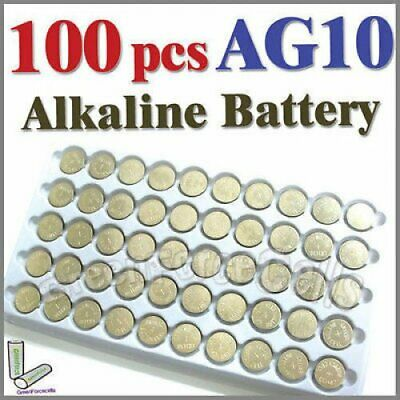100 x AG10 LR54 SR54 SR1130W 189 L1130 Single Use Alkaline Battery Button