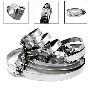 Stainless Steel Hose Clips Pipe Clamps - Multi  Size - 304ss - Jubilee Type
