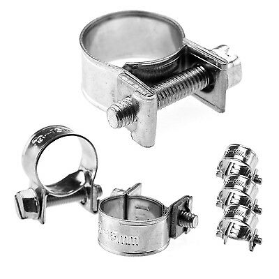 HOSE PIPE CLAMPS - MINI CLIP TYPE - SMALL DIAMETER - 7mm To 20 mm - Buy 1 To 10