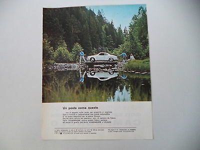 advertising Pubblicità 1967 VOLKSWAGEN KARMANN GHIA