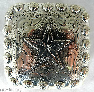 "3"" Mojave Star Buckle w/Screwback Concho - Hide Crafter #1956-03"