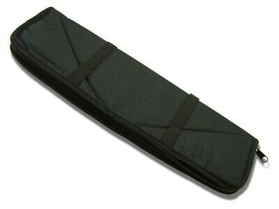 Black Nylon Zippered Fleece Lined Padded Storage Pouch Case Sheath Knife or Tool