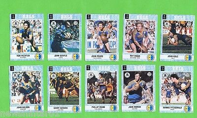 1977   Parramatta  Eels Scanlens Rugby League Cards