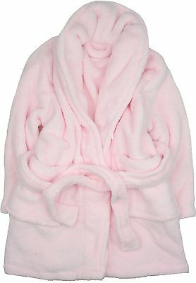 Anucci Soft Microfibre Dressing Gown Pink 3-5 Years