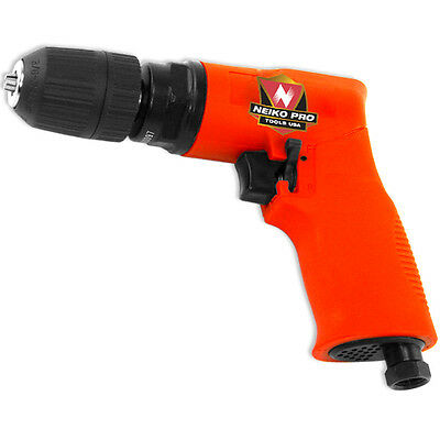 "Neiko Pro 3/8"" Composite Reversible Air Drill with Keyless Chuck"
