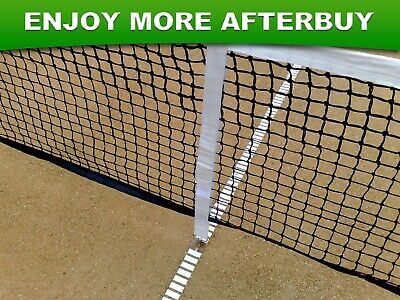 Adjustable A-Grade Tennis Net Centre Strap Band in White with Locking Hook