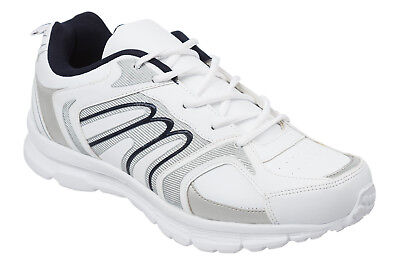 Mens White Trainers Size 6 to 11 UK - SPORT RUNNING CASUAL LEISURE WORK / 006