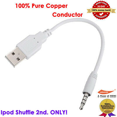Usb To 3.5mm Jack Data Sync & Charge Cable Mp3 Ipod Shuffle 2nd. Charger Adapter